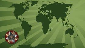 Green world map Royalty Free Stock Photo