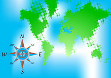 Green world map Stock Photo