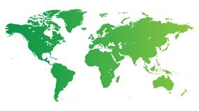Green World map Royalty Free Stock Photos