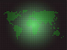Green world map dot design stock photo