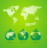Green world map. Stock Images
