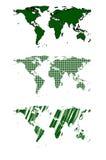 Green world map vector design Royalty Free Stock Photos