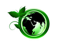 Green world by people Stock Image