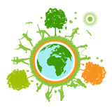 Green world , planet Stock Image