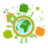 Green world , planet Stock Photos