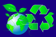 Green world - Recycling Stock Photo