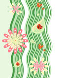 Green world. Vector illustration of abstract nature background Stock Photography