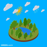 Green world vector illustration Stock Photography