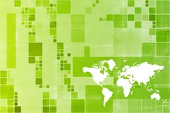 Green World Wide Business Template Abstract Stock Photo