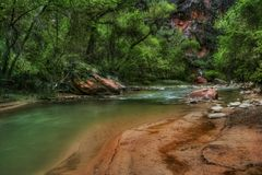 Green world of Zion Stock Photo