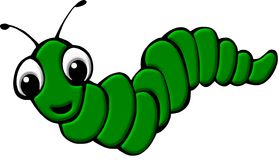 Green worm illustration Stock Image