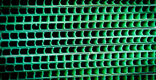 Green woven metallic grunge grid striped abstract background Royalty Free Stock Photos