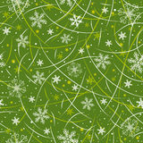 Green wrapping christmas paper,  Stock Photography