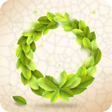 Green wreath Royalty Free Stock Photography