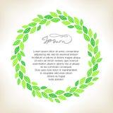 Green_wreath 皇族释放例证