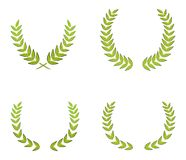 Green wreaths. Eps image illustration Royalty Free Illustration