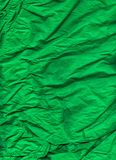Green Wrinkled Wrapping Tissue Paper Textured Background Stock Images