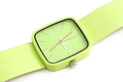 Green wristwatch Royalty Free Stock Photo