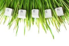 Green written in keyboard keys Royalty Free Stock Images