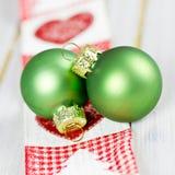Green xmas balls Stock Image