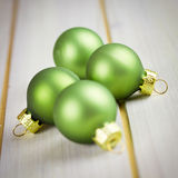Green xmas balls Royalty Free Stock Image