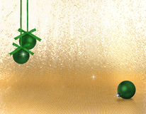 Green xmas ornaments Stock Photography