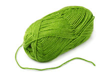 Green yarn. Skein of green yarn  on white Royalty Free Stock Image