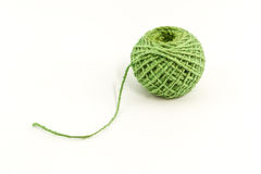 Green yarn. Stock Photo