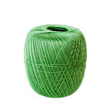 Green yarn ball isolated on white. Background Royalty Free Stock Images