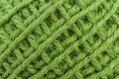 Green yarn. Royalty Free Stock Image