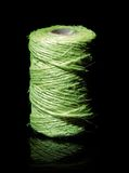 Green yarn coil Stock Photos