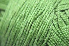 Green yarn. A macro image of yarn in green color royalty free stock image