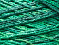 Green yarn roll Royalty Free Stock Image