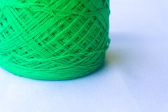 Green of yarn stock photography