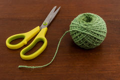Green yarn. Royalty Free Stock Photography