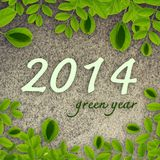 2014 green year Royalty Free Stock Photos