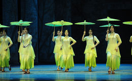 Green years-The second act of dance drama-Shawan events of the past. Guangdong Shawan Town is the hometown of ballet music, the past focuses on the historical Stock Photos