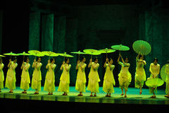 Green years-The second act of dance drama-Shawan events of the past Royalty Free Stock Images