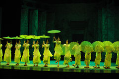 Green years-The second act of dance drama-Shawan events of the past Royalty Free Stock Image