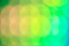 Green and yellow abstrack bokeh background, shallow depth of fie Stock Photography