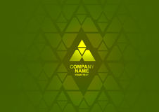 Green and yellow abstract logo Royalty Free Stock Photo