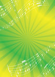 Abstract music background - vector flyer. Green and yellow abstract music background - vector flyer. Eps 10 Stock Images