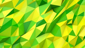 Green yellow abstract triangles poly colors geometric shape background Royalty Free Stock Images
