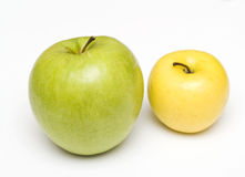 Green and yellow apple Royalty Free Stock Image