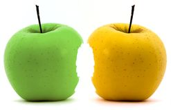 Green and yellow apples Stock Photo