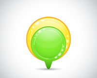 Green and yellow arrow button Royalty Free Stock Photos