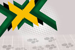 green and yellow arrow overlap, abstract background Royalty Free Stock Image