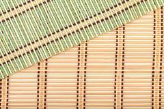 Green and Yellow Bamboo Matt Stock Image
