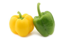 Green and yellow bell pepper Royalty Free Stock Photo