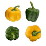 Green and yellow bell peppers Stock Photography